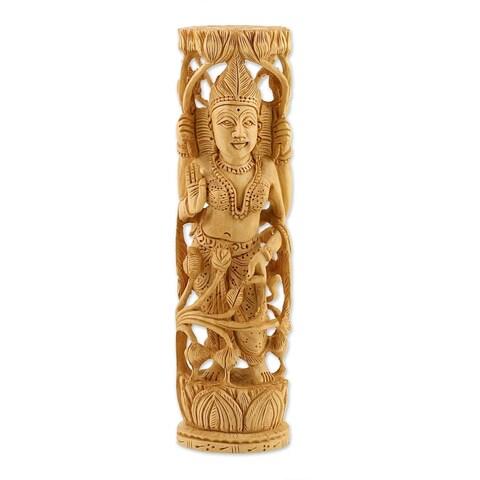Lakshmi, Goddess of Prosperity' Statuette , Handmade in India