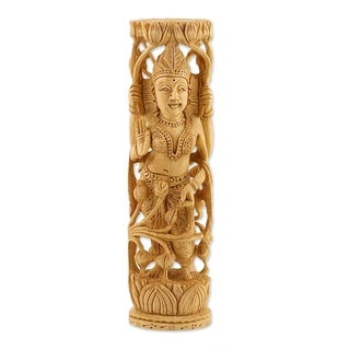 "Lakshmi Goddess of Prosperity Statuette - 2.8"" x 10.25"""