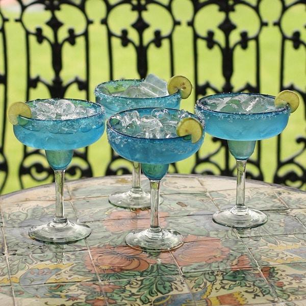 Margarita 'Aqua Freeze' Set of 4 Glasses (Mexico)