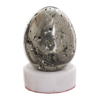 Link to Handmade Sparkling Egg Pyrite Sculpture (Peru) Similar Items in Decorative Accessories