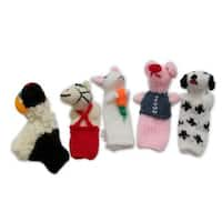 Handmade 'Playful Farm Animals' Finger Puppets (Peru)