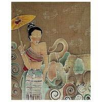 Handmade Batik 'Grace and Power' Wall Hanging (Thailand)