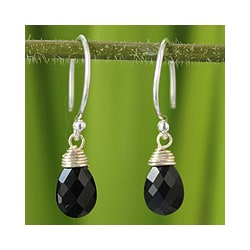 Black Spinel 'Glowing Exotic' Earrings (Thailand)