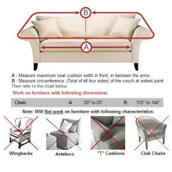 Chair Stretch Pique Slipcover - Thumbnail 2