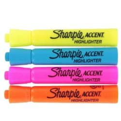 Sharpie Accent Fluorescent Assorted Color Highlighters (Pack of 12)