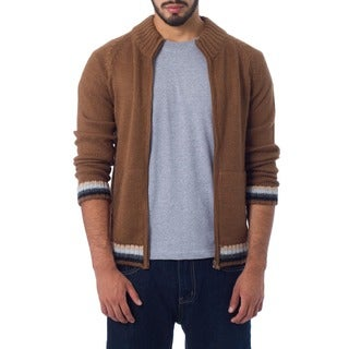 Handmade Alpaca Wool 'Cinnamon Elite' Jacket (Peru)