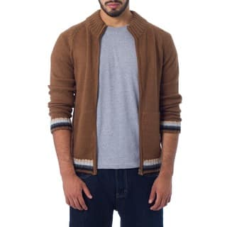 Handmade Alpaca Wool 'Cinnamon Elite' Jacket (Peru)|https://ak1.ostkcdn.com/images/products/3805328/P11865463.jpg?impolicy=medium