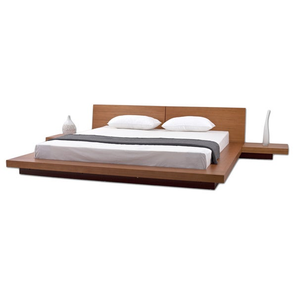Fujian 3-piece King-size Platform Mid-century Style Bedroom Set ...