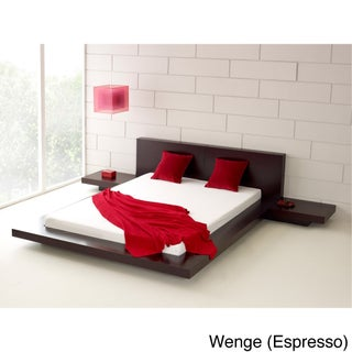 Fujian 3-piece King-size Platform Mid-century Style Bedroom Set