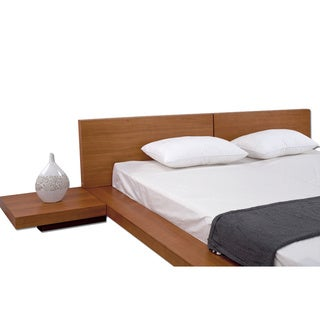 Fujian 3-piece King-size Platform Mid-century Style Bedroom Set