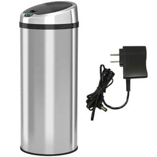iTouchless 13 Gallon Automatic Stainless Steel Touchless Trash Can NX with AC Adaptor|https://ak1.ostkcdn.com/images/products/3811337/P11870908.jpg?impolicy=medium