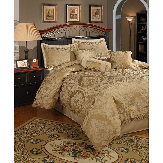 Halifax 7-piece Gold Comforter Set - Thumbnail 0