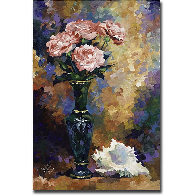 Yelena Lamm 'Roses and a Seashell' Gallery-wrapped Canvas Art