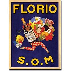 Marcello Dudovich 'Florio S.O.M' Canvas Art