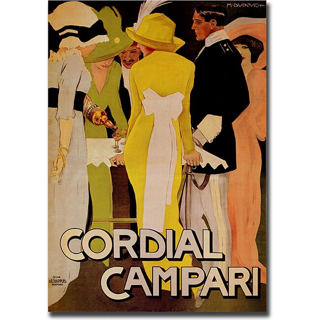 'Cordial Campari' Gallery-wrapped Canvas Art