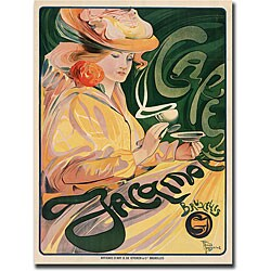Fernand Toussaint 'Cafe Jacqmoette' Canvas Art