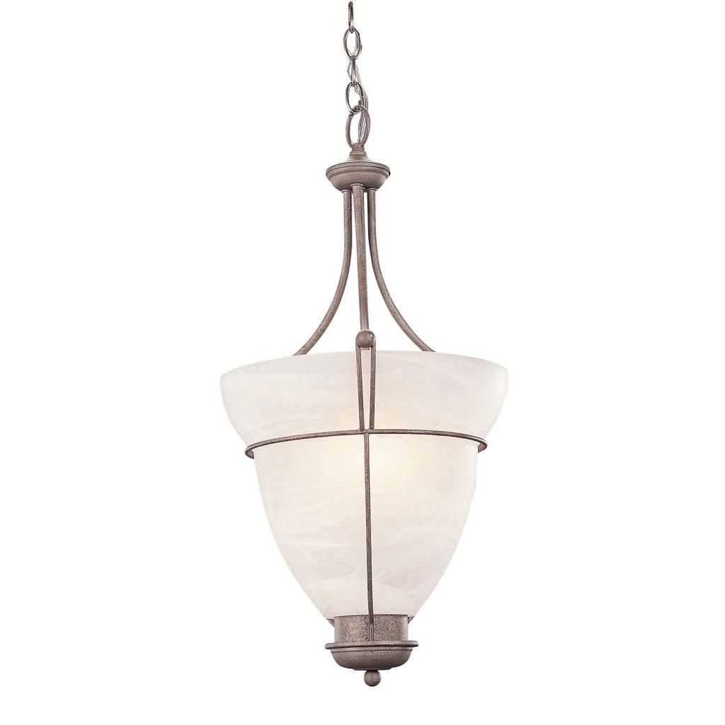 Sahara Finish 1-light Pendant with Alabaster Glass