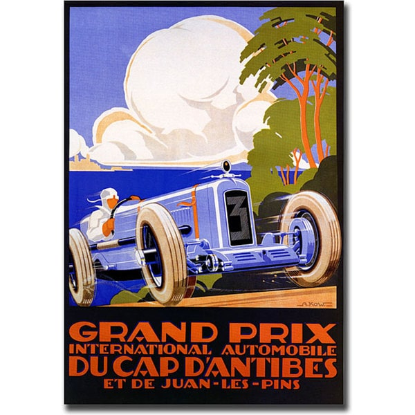 G. Kow 'Grand Prix Ducap Dantibes' Canvas Art
