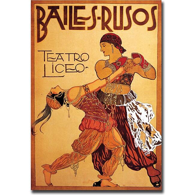 'Bailes Rusos Teatro Liceo' Canvas Art