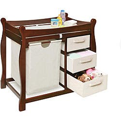 Cherry Changing Table with Hamper and Three Baskets|https://ak1.ostkcdn.com/images/products/3821190/Cherry-Changing-Table-with-Hamper-and-Three-Baskets-P11879032.jpg?impolicy=medium