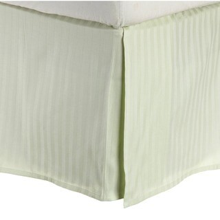 Superior 100-percent Premium Long-staple Combed Cotton 300 Thread Count 15 inch Drop Striped Flat Bedskirt