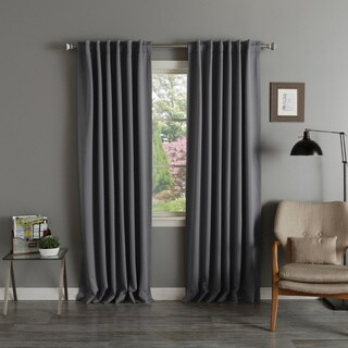 Aurora Home Thermal Rod Pocket 96 Inch Blackout Curtain Panel Pair   52 X 96