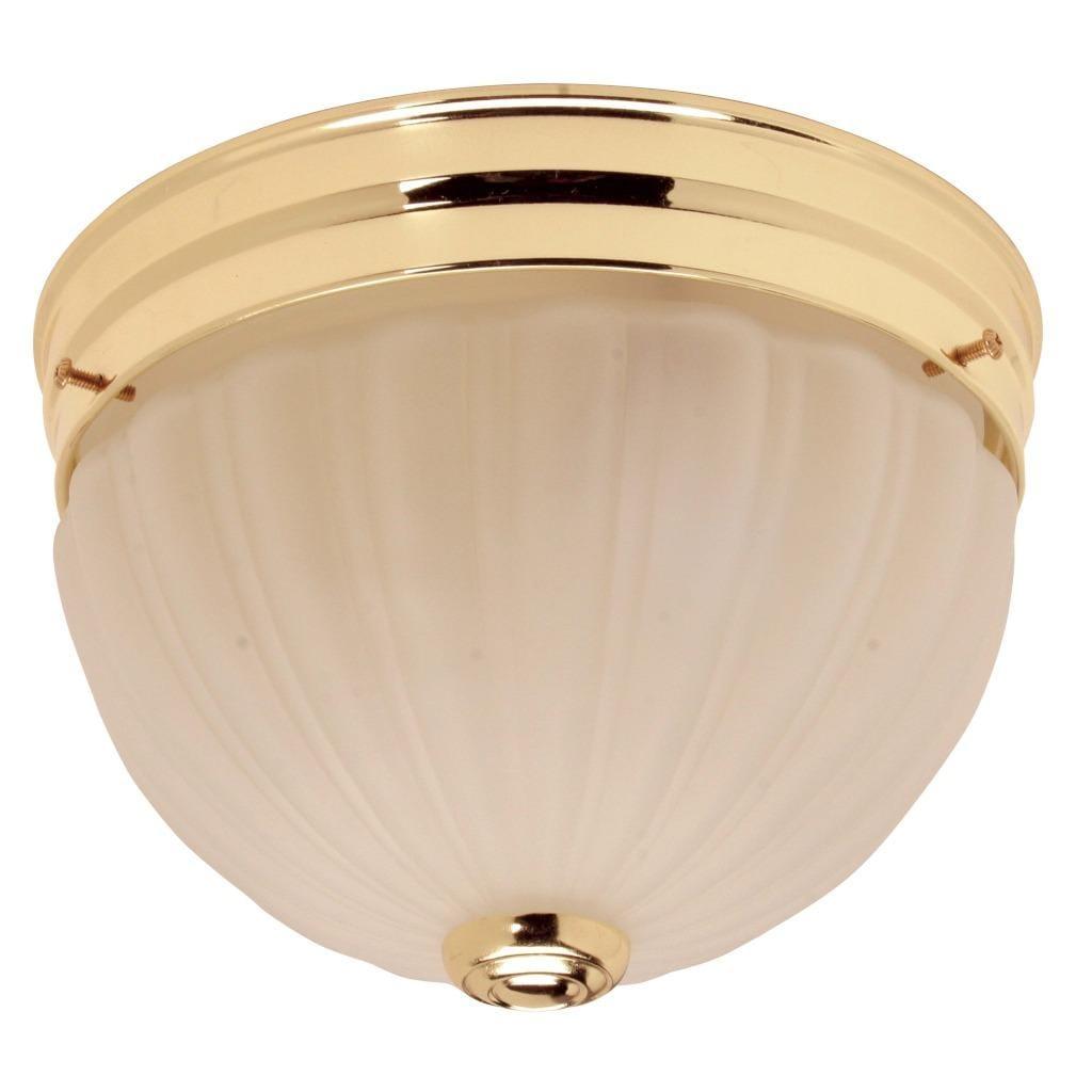 Polished Brass 2-light Flush Mount Fixture