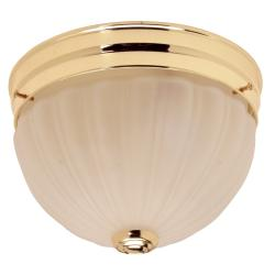Polished Brass 2-light Flush Mount Fixture
