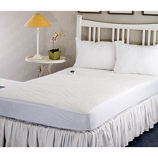 shop warm and cozy plush heated electric full size mattress pad on sale free shipping today. Black Bedroom Furniture Sets. Home Design Ideas