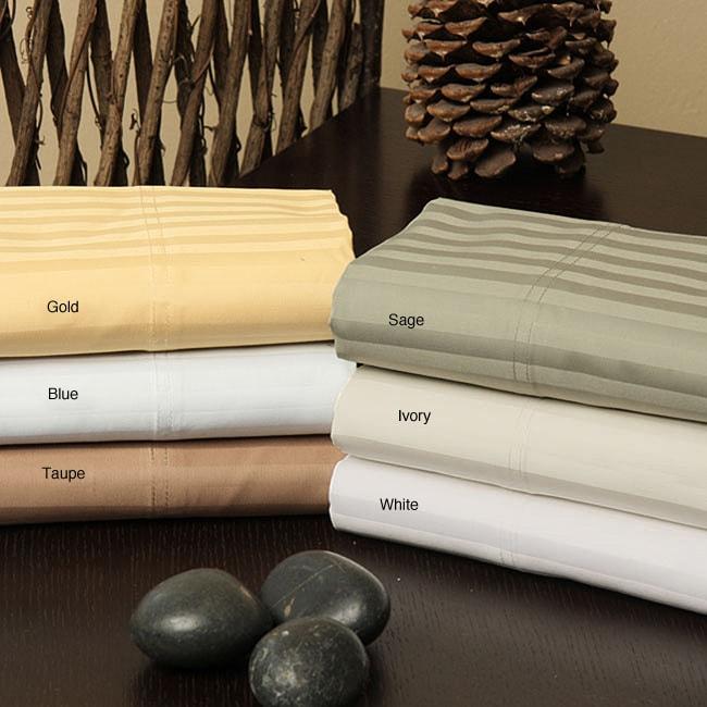 Superior Cotton 1200 Thread Count Stripe Sheet Set
