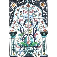 'Whispering Doves' 6-tile Ceramic Wall Mural Art