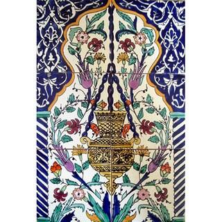 'Golden Lamp' 6-tile Ceramic Wall Mural Art