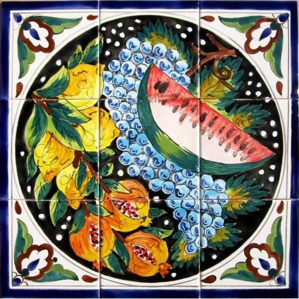 Mosaic Kitchen Backsplash Wall Art 9 Ceramic Tile Mural Overstock 3825218