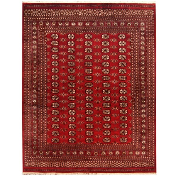 Herat Oriental Hand Tufted Wool Red Black Area Rug: Shop Handmade Herat Oriental Pakistan Bokhara Wool Rug