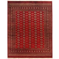 Herat Oriental Pakistan Hand-knotted Bokhara Wool Rug - 8' x 10'