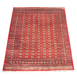 Herat Oriental Pakistan Hand-knotted Bokhara Red/ Ivory Wool Rug (8' x 10')