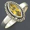 Sterling Silver Citrine Gemstone Ring (India)