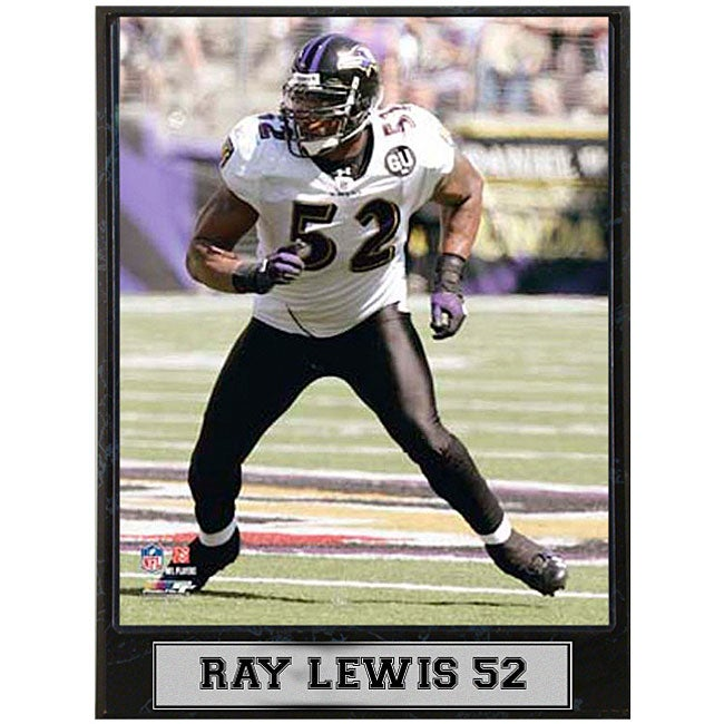 Baltimore Ravens' Ray Lewis 9x12 Photo Plaque