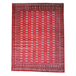 Herat Oriental Pakistan Hand-knotted Bokhara Wool Rug - 9' x 12'