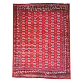 Herat Oriental Pakistan Hand-knotted Bokhara Wool Rug (9' x 12')