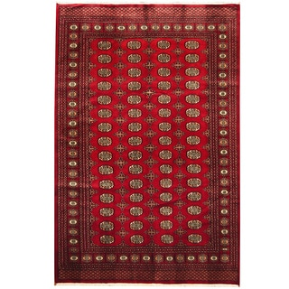Herat Oriental Pakistan Hand-knotted Bokhara Wool Rug (6' x 9')