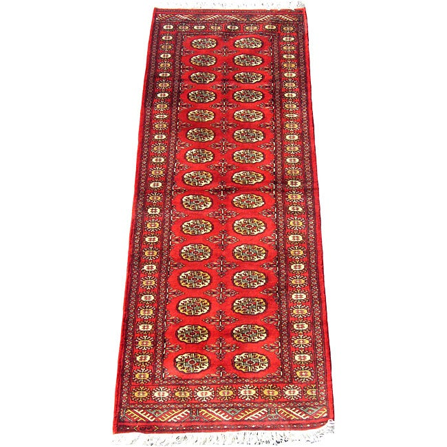 Pakistan Bokhara Rugs In Red: Shop Herat Oriental Pakistan Hand-knotted Bokhara Red