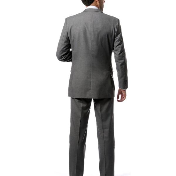 Ferrecci 54L Mens 2pc 2 Button Regular Fit Charcoal Suit