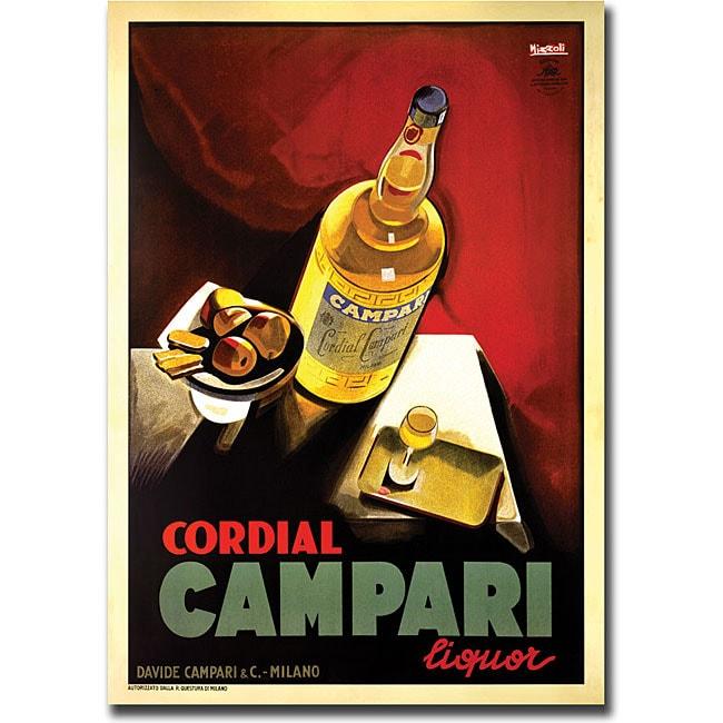'Cordial Campari Liquor' Gallery-wrapped Art