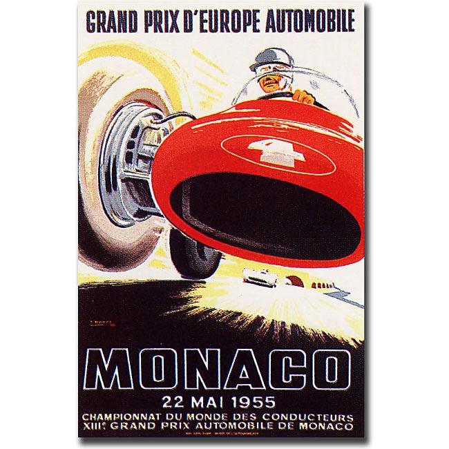 George Ham 'Monaco 1955' Gallery-wrapped Art Print