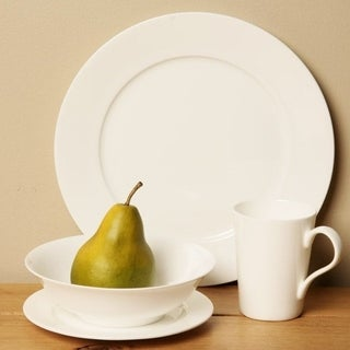 Red Vanilla White 16-piece Bone China Set  sc 1 st  Overstock : dinnerware bone china - pezcame.com