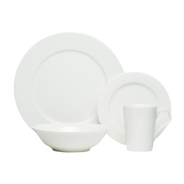 Red Vanilla White 16-piece Bone China Set