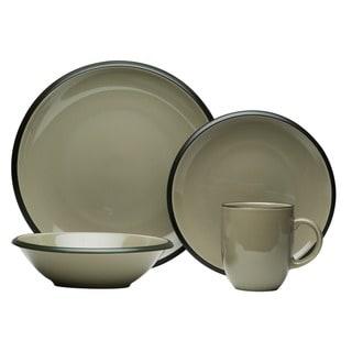 Red Vanilla Hampshire Grey 16-piece Dinnerware Set