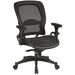 Office Star Breathable Mesh Seat and Back Managers Chair