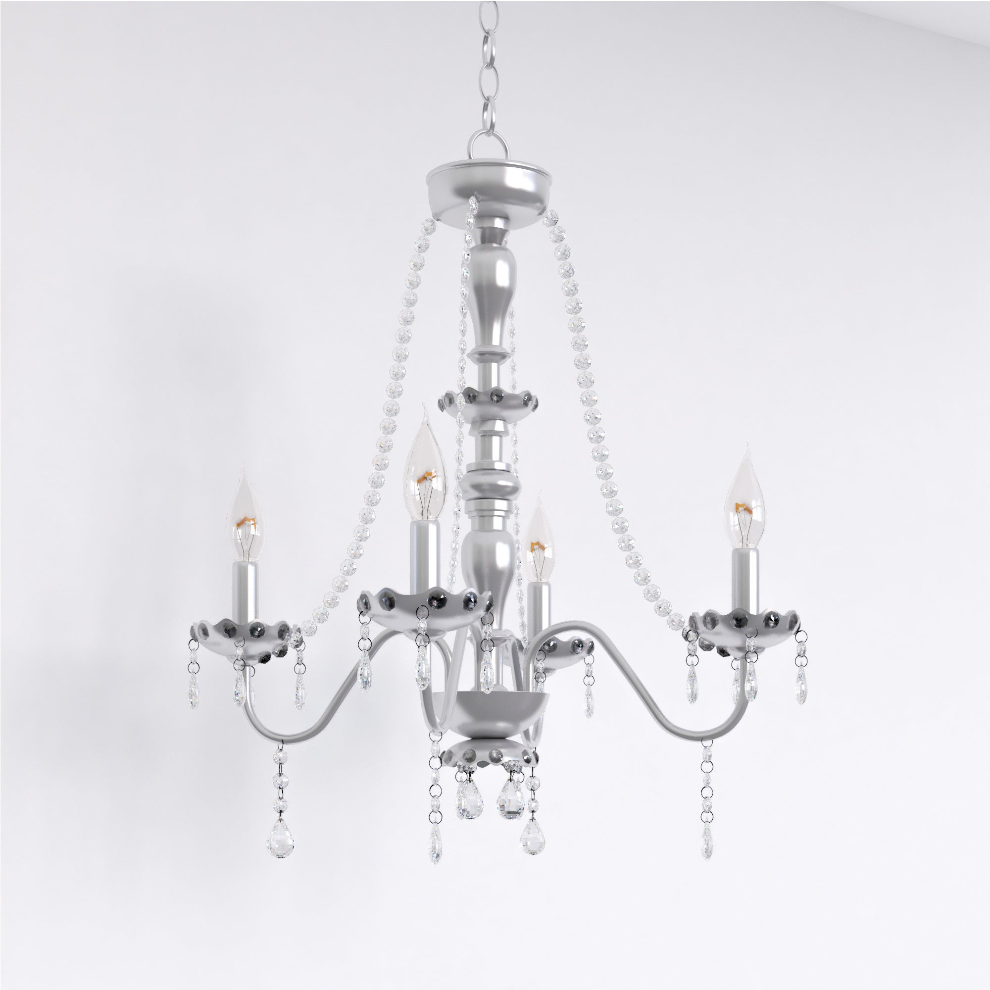 Porch & Den Cherrywood Randolph Chrome 5-light Crystal Chandelier - Thumbnail 0